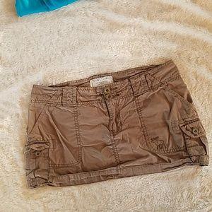 Light brown Abercrombie mini skirt size 4